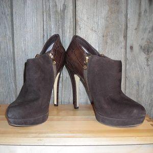 Michael Kors brown heels booties size 7.5 M
